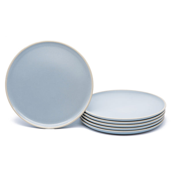Salad Plates, 8 inch, Set of 6, The Hamptons Collection-Dine-Kook-Blue-kook