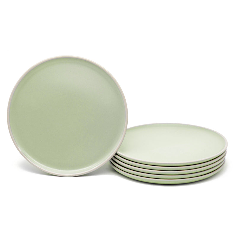 Salad Plates, 8 inch, Set of 6, The Hamptons Collection-Dine-Kook-Mint-kook