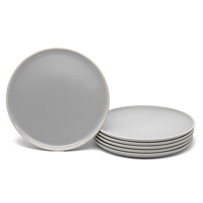 Salad Plates, 8 inch, Set of 6, The Hamptons Collection-Dine-Kook-Gray-kook