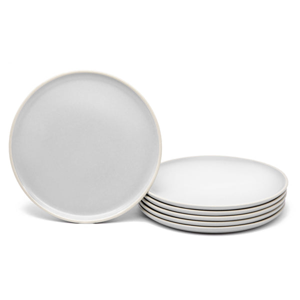 Salad Plates, 8 inch, Set of 6, The Hamptons Collection-Dine-Kook-White-kook