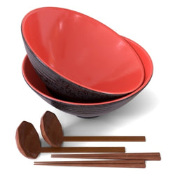 Japanese Ramen Bowls, 60 oz, Set of 2