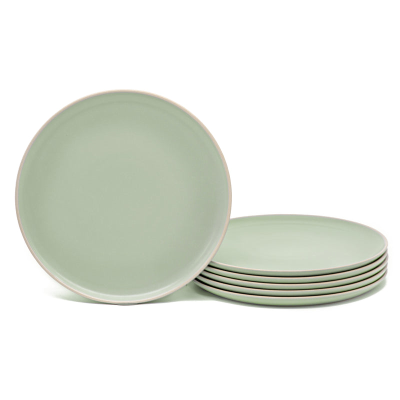 Dinner Plates, 10 inch, Set of 6, The Hamptons Collection-Dine-Kook-Mint-kook