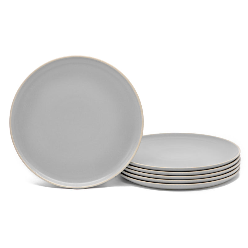 Dinner Plates, 10 inch, Set of 6, The Hamptons Collection-Dine-Kook-Gray-kook