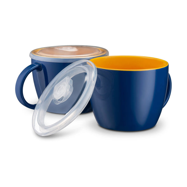 Soup Cups with Lids, 25 oz, Set of 2