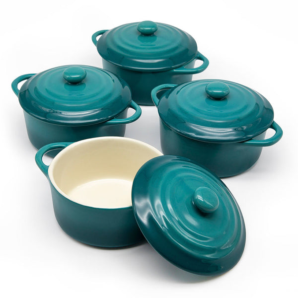 Mini Casserole Dishes, 12 oz, Set of 4-Cook-Kook-Aqua Ombre-kook
