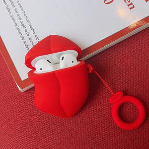 "Airpods Case ""Lips"" [with fingerchain]"
