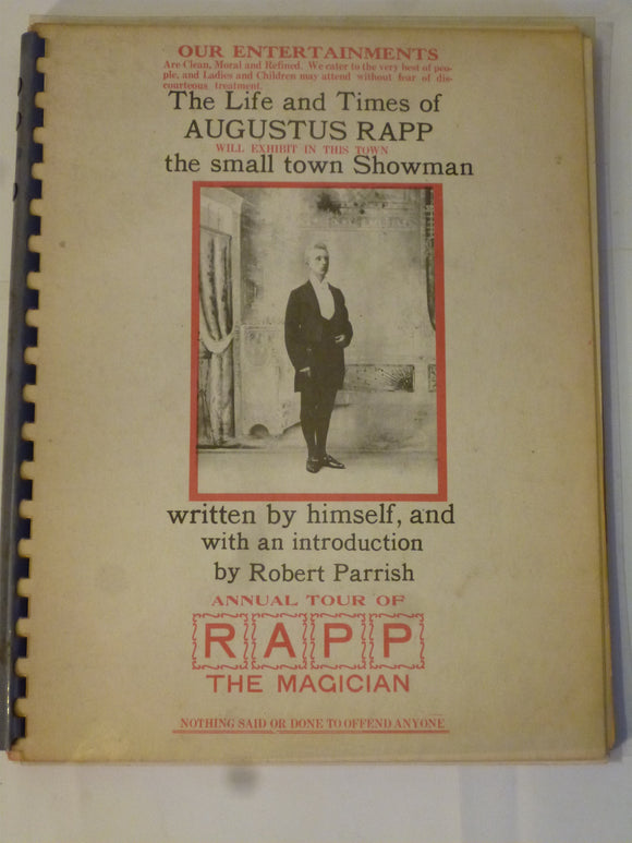 Augustus Rapp - Introduction by Robert Parrish - The Life and Times of Augustus Rapp