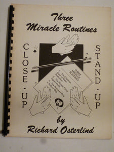 Osterland, Richard - Three Miracle Routines