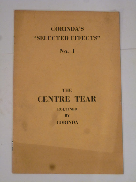 Corinda - Selected Series No 1 – The Centre Tear