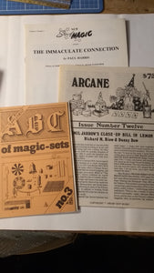 New Stars of Magic - Paul Harris plus Magic Sets plus Arcane magazine
