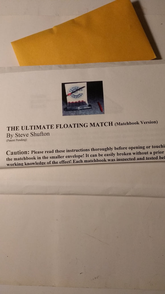 Steve Shufton - Floating Match*2 plus DVD Trick