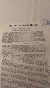 Karroll Priest's Watch Thing