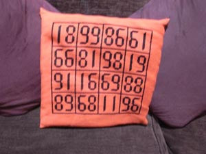 Magic Square Cushion