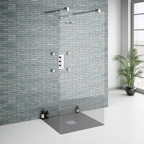 Square Slate Effect Shower Trays