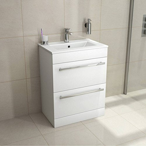 Purity Floor Standing Drawer Unit & Ceramic Basin