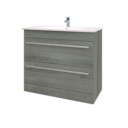 Purity Wall Mounted Drawer Unit & Ceramic Basin