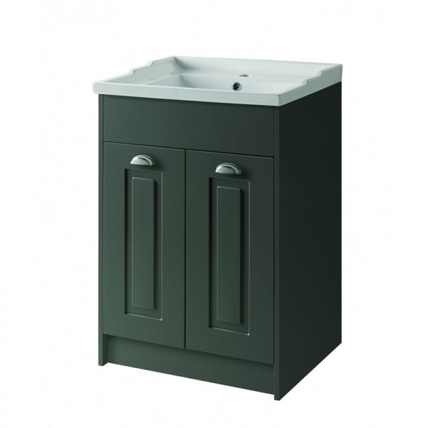Astley Floor Standing 2 Door Unit & Ceramic Basin