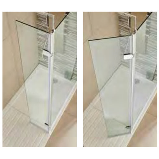 Koncept Wet Room Screen Hinged Return Panel
