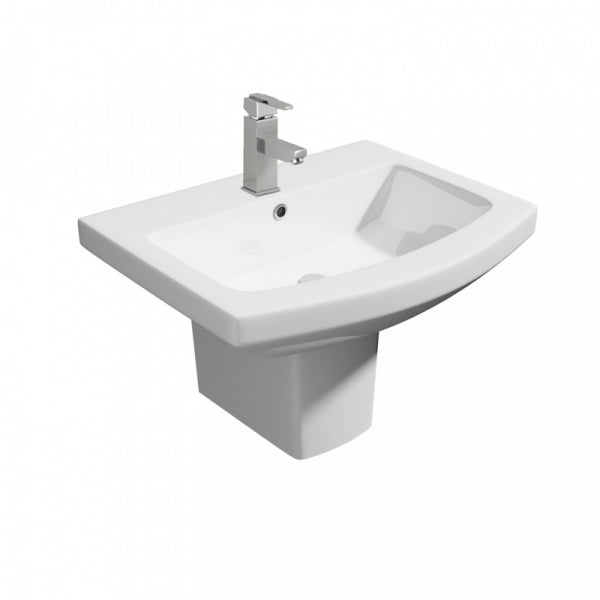 Trim 550mm 1th Basin with Semi Pedestal