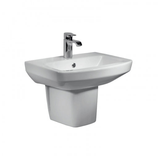 Aspect 1TH 460mm Basin & Semi Pedestal