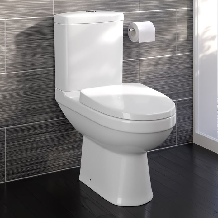 Ratio Comfort Height Close Coupled WC Pan, Cistern & Seat
