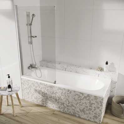 Acqua Arm Bath Screen Single Panel 1500x800mm