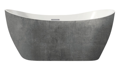 Harrogate Collection Arruba Freestanding Bath - Mottled Silver