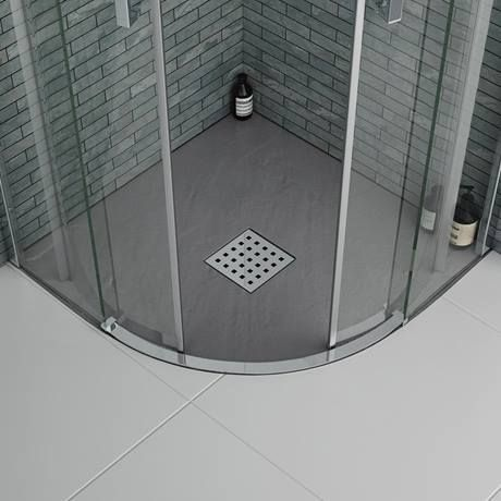 Slate Effect Quadrant Shower Trays