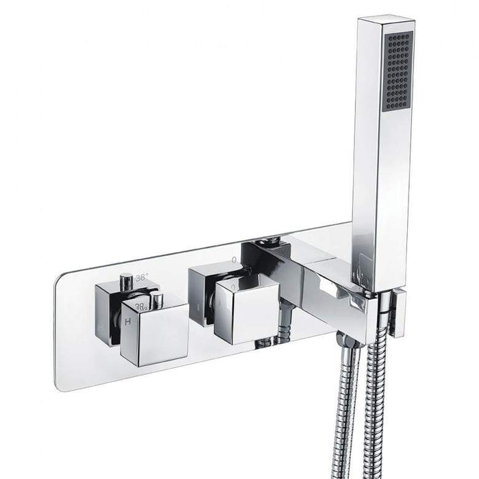 Triple Square Concealed Valve with Diverter 10