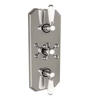 Triple Traditional Concealed Valve with Diverter