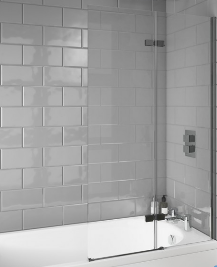 i6 Square Edge 6mm Thick Bath Screen 1400x800mm