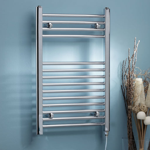 Straight Electric Towel Rail On/Off