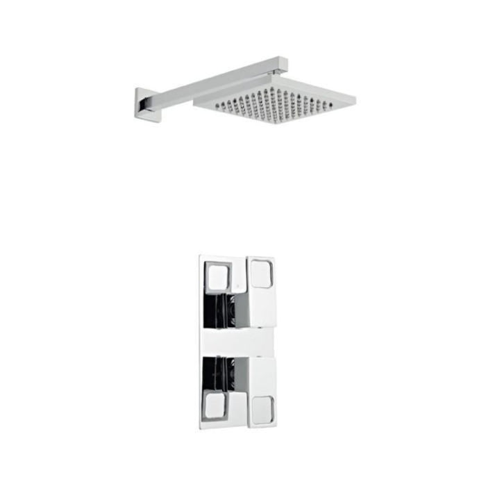 Kourt Thermostatic Concealed Shower With Fixed Overhead Drencher