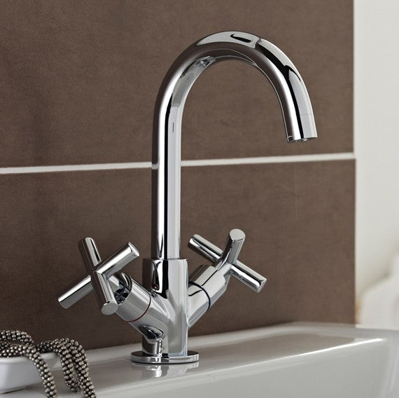 Times Mono Basin Mixer With Click Waste TAP080TI