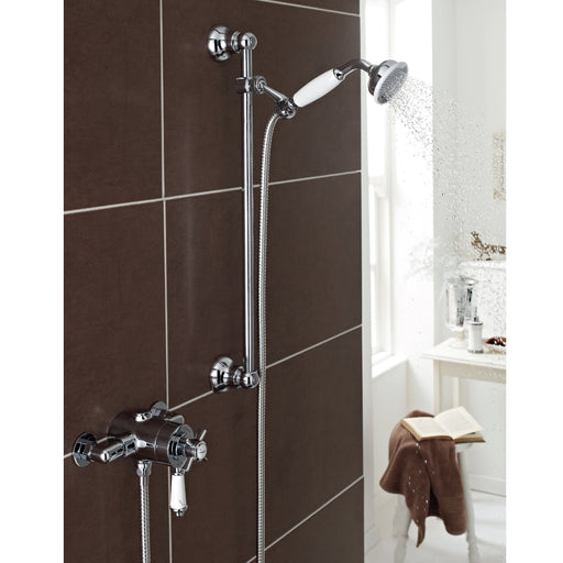 Klassique Thermostatic Exposed Shower With Adjustable Slide Rail Kit