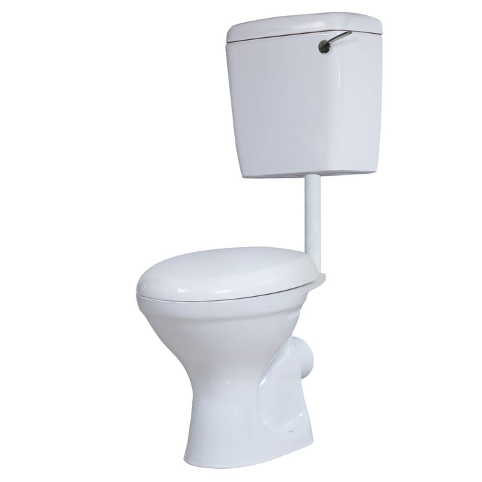 Prestige Dusk Low Level Toilet WC Bottom Feed Cistern - Soft Close Seat
