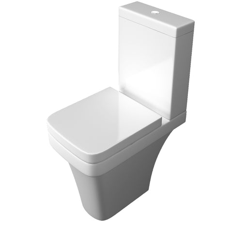 Sicily Comfort Height C/C WC Pan, Cistern and Soft Close Seat