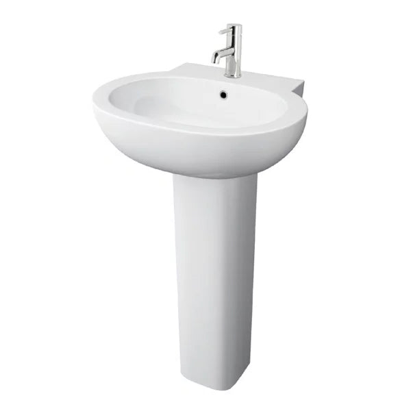 Milano Ceramics 550mm 1th Basin with Pedestal