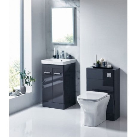 Rossini Floor Standing Vanity Unit - Wolf Grey