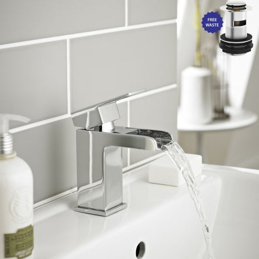 Adore Mono Basin Mixer With Click Waste TAP030AD