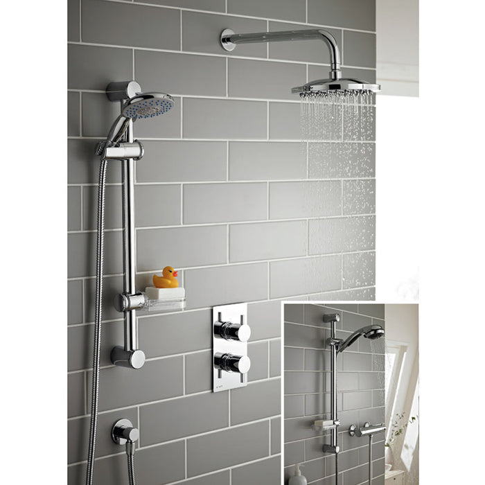 Plan Thermostatic Concealed Shower With Adjustable Slide Rail Kit And Overhead Drencher