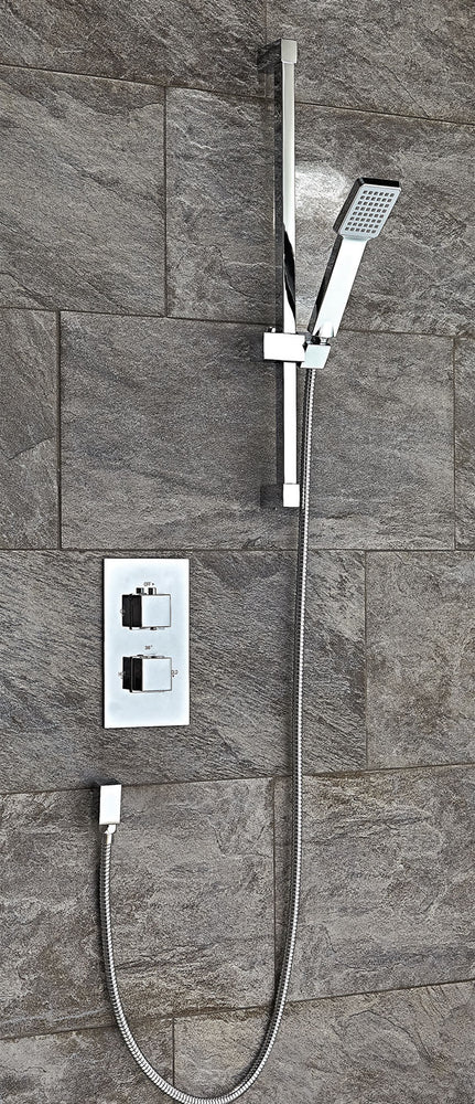 Square Thermostatic Shower Set 1