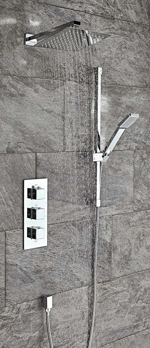 Square Thermostatic Shower Set 4
