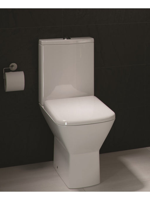 Korsika Close Coupled Toilet Pan, Cistern & Soft Close Seat