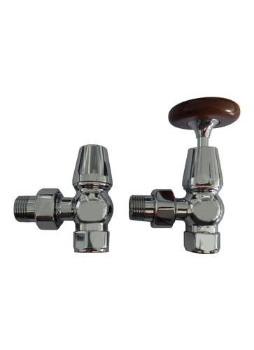 Traditional Chrome Towel Rail Valve