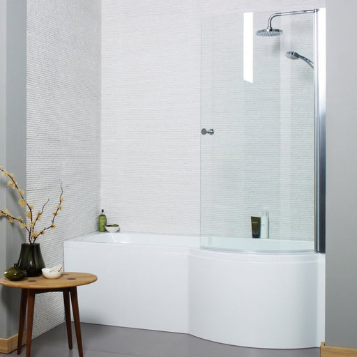 Adapt P-Shaped Shower Bath 1500 X 850mm Right Hand