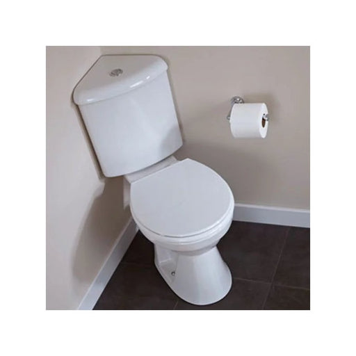 G4k Corner WC, Cistern and Supreme Soft Close Seat