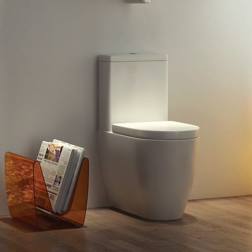 Genoa Close to Wall Close Coupled WC Cistern and Soft Close Seat
