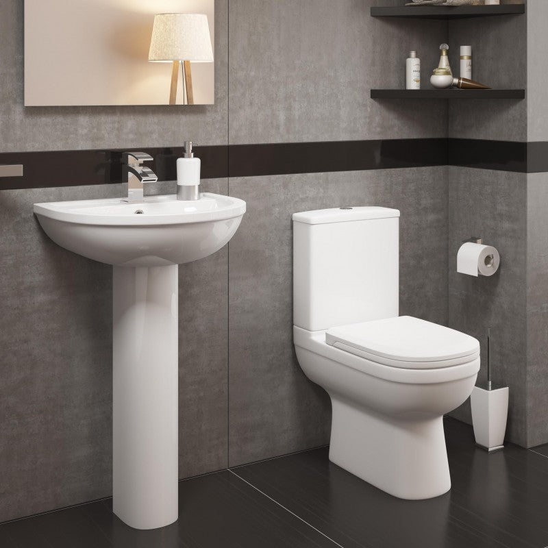 Lifestyle Close to Wall Toilet Pan, Cistern & Premium Soft Close Seat
