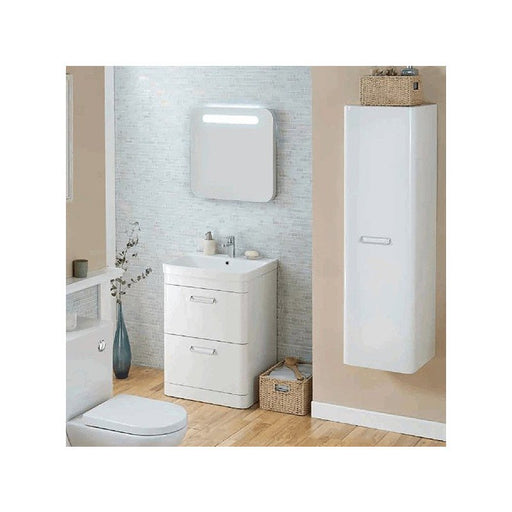 Metro Wall Mounted Side Unit - White